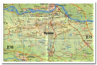 vrdnik mapa Fruškogorski Mir   Mapa vrdnik mapa